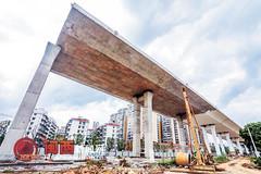龙岩大道高架桥北引桥段工程进入收尾阶段