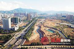 龙岩龙津湖公园崭露芳姿 工程预计年底竣工