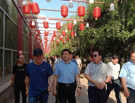 偃师市市长何武周到緱氏镇马蹄泉旅游度假村调研