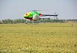直升机在缑氏镇一喷三防