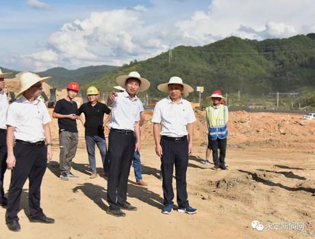 陈荣水调研高坎组团项目建设工作